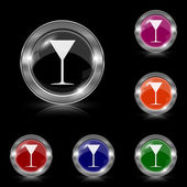 Martini glass icon — Vector de stock