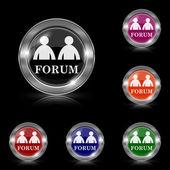 Forum icon — Stock Vector
