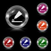 Dente colar e escove o ícone — Vetorial Stock