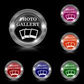 Zdjęcie galeria ikona — Wektor stockowy