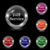 24H Service icon — Stock Vector