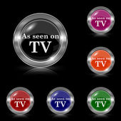 As seen on TV icon — Stock Vector