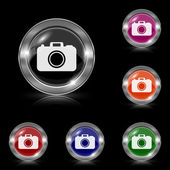 Photo camera icon — Vector de stock