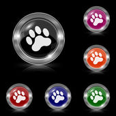 Paw print icon — Stock Vector