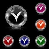 V checked icon — Stock Vector