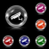 Icona della macchina fotografica di sorveglianza — Vettoriale Stock