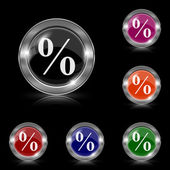 Percent  icon — Vettoriale Stock