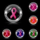 乳房癌带状图标 — 图库矢量图片