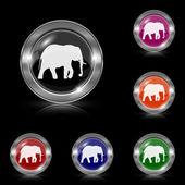Elephant icon — Stock Vector