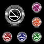 No smoking icon — Stock Vector