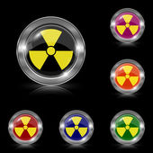 Radiation icon — Stock Vector