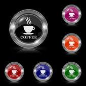 コーヒー カップ アイコン — ストックベクタ
