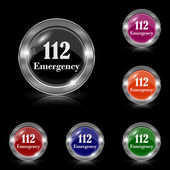 112 Emergency icon — Stock Vector