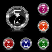 Icono de reloj de arena — Vector de stock
