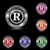Registered mark icon — Stock Vector