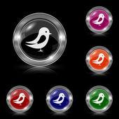 Vogel-symbol — Stockvektor