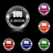 Ícono e-book — Vector de stock
