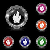 Fire icon — Vector de stock