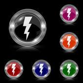 Lightning icon — Stock Vector