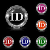 ID icon — Stock Vector