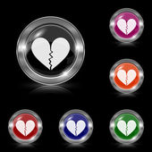 Broken heart icon — Vector de stock
