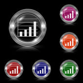 Chart bars icon — Vettoriale Stock