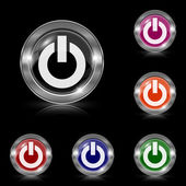Power button icon — Vettoriale Stock