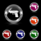 Gun icon — Vettoriale Stock