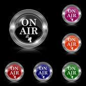 On air icon — Vettoriale Stock
