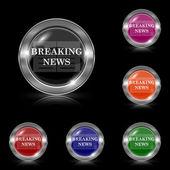 Breaking news icon — Stock Vector