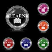 Learn icon — Stock Vector