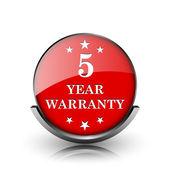 5 jaar garantie pictogram — Stockfoto