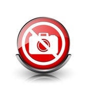 Forbidden camera icon — Stock Photo