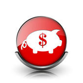 Save money icon — Stock Photo