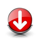 Down arrow icon — Stock Photo