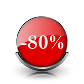 80 percent discount icon — Stock Photo