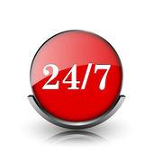 24 7 icon — Stock Photo