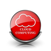Cloud computing ikonen — Stockfoto