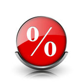 Icona percentuale — Foto Stock