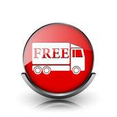 Gratis levering vrachtwagen pictogram — Stockfoto