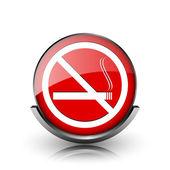 没有吸烟图标 — 图库照片