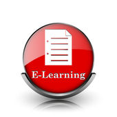 Icono de e-learning — Foto de Stock
