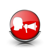 Megafoon pictogram — Stockfoto