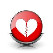 ícone de coração partido — Fotografia Stock