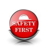 первый значок безопасности — Стоковое фото