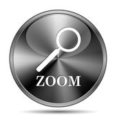 Zoom with loupe icon — Stock Photo