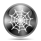 Spider web icon — 图库照片