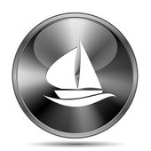 Sailboat icon — Stock Photo