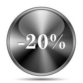 20 percent discount icon — 图库照片
