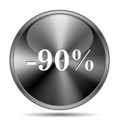 90 percent discount icon — Stockfoto